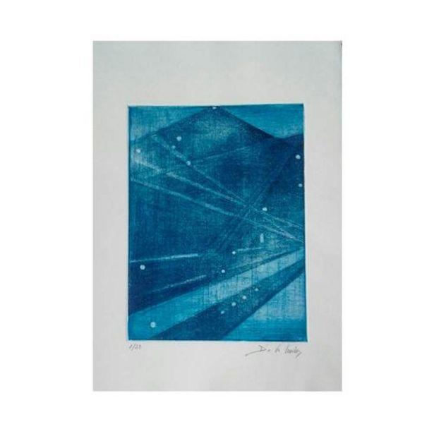 Oferta de Escalera  Azul - Reproducción Grabado Original 30x21 cm por 10€