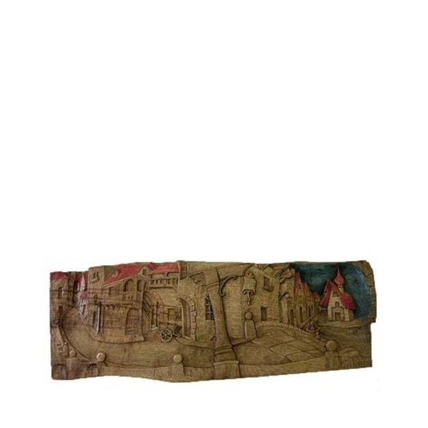 Oferta de Relieve pueblo - Talla de madera por 415€