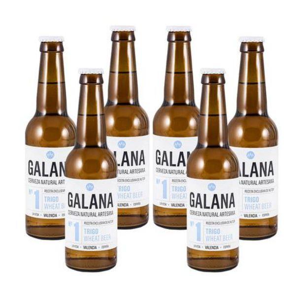 Oferta de Galana N.1 - Cerveza de trigo - Caja 6 botellas 33 cl por 15€