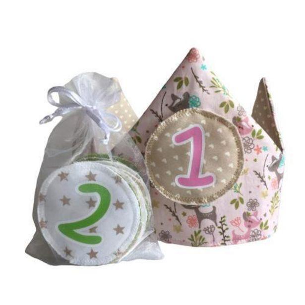 Oferta de Corona Infantil de Cumpleaños Dulce Bosque Corazones por 24,9€