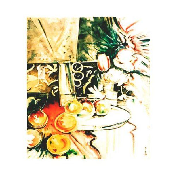 Oferta de Bodegón de Díaz-Cano - Impresión sobre Lienzo con Marco Oxidado 79.5x87.5 por 240€