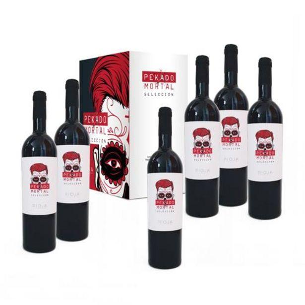 Oferta de Caja 6 botellas Rioja Pekado Mortal Selección por 62,9€