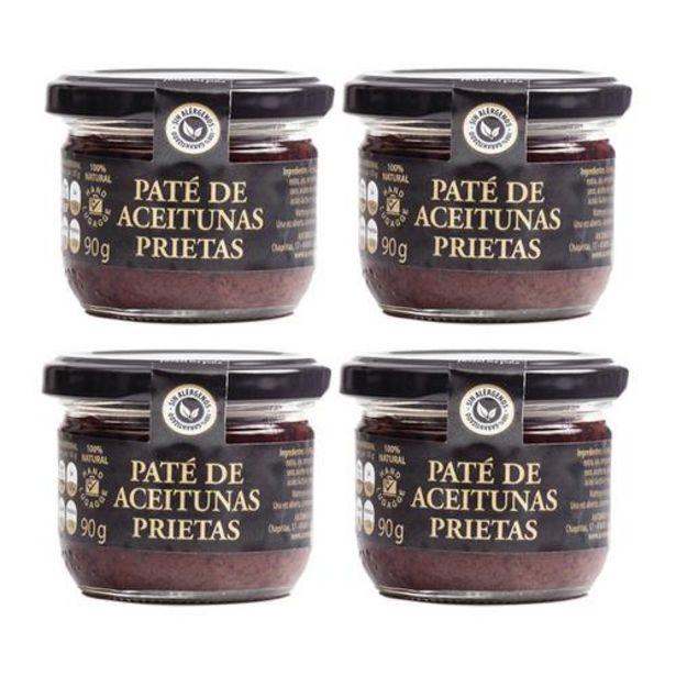 Oferta de Paté de aceitunas Prietas - 4 tarros de 90 g por 18€