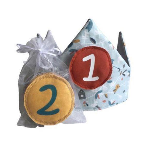 Oferta de Corona Infantil de Cumpleaños Selva Azulada Estrellas por 24,9€