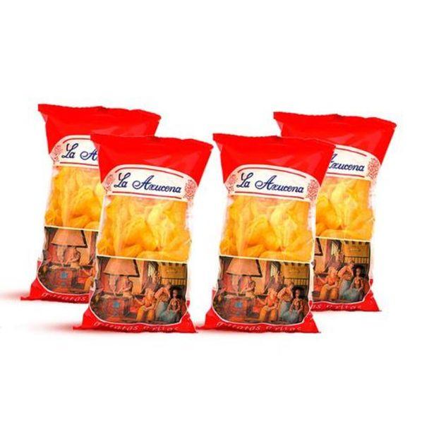 Oferta de Patatas fritas Artesanas. Caja de 4 Bolsas de 145g por 15€