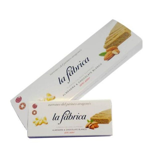 Oferta de Pack 2 turrones almendra & chocolate blanco - 200 y 50 g por 18,5€