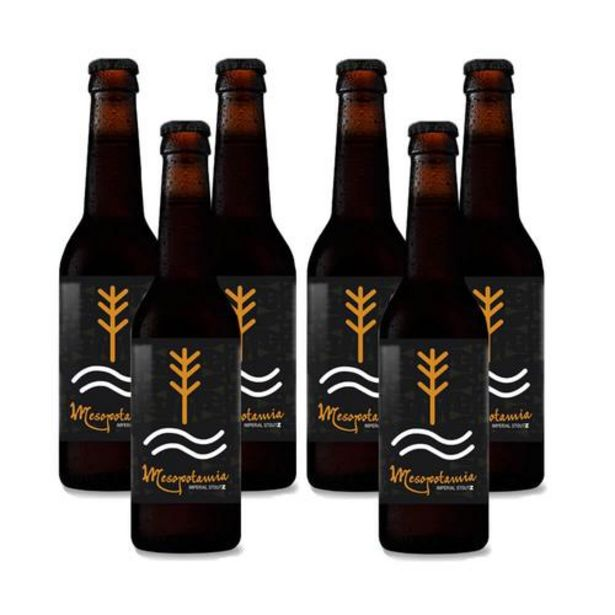 Oferta de Cerveza artesana Mesopotamia Imperial Stout - Pack 6 botellas 33 cl por 19,5€