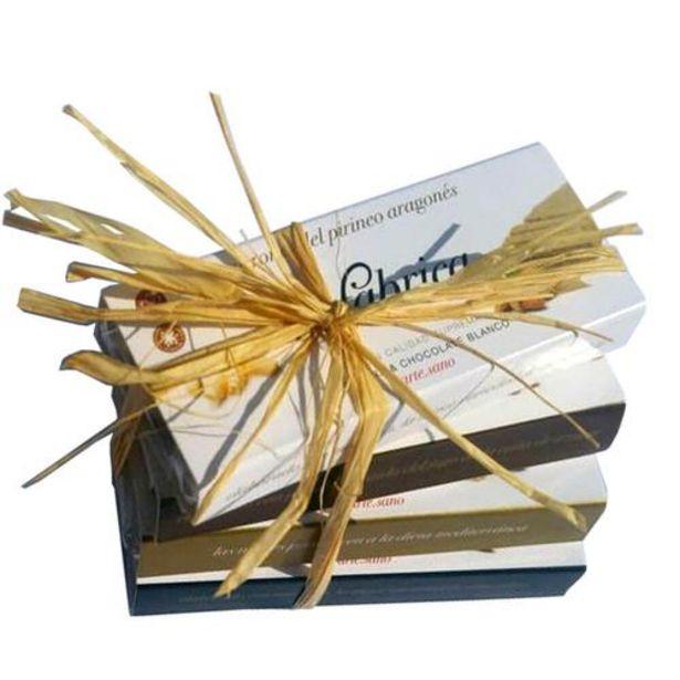 Oferta de Pack 4 turrones almendra & chocolate blanco, almendra & panela, avellana & panela, nuez & panela - 50 g tableta por 18,5€