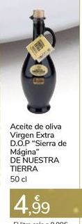"""Oferta de Aceite de oliva Virgen Extra D.O.P """"Sierra de Mágina"""" DE NUESTRA TIERRA por 4,99€"""