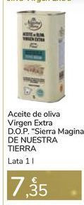 """Oferta de Aceite de oliva Virgen Extra D.O.P """"Sierra Magina"""" DE NUESTRA TIERRA por 7,35€"""