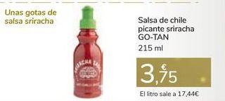 Oferta de Salsa de chile picante sriracha GO-TAN  por 3,75€