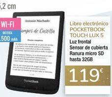 Oferta de Libro electrónico POCKETBOOK TOUCH LUX 5  por 119€