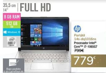 Oferta de Portátil 14s-dq1016ns HP por 779€