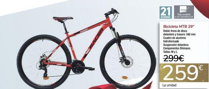 Oferta de Bicicleta MTB 29'' por 259€