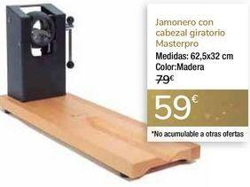 Oferta de Jamonero con cabezal giratorio Masterpro por 59€