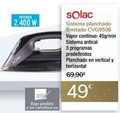 Oferta de Sistema planchado ilimitado CVG9506 SOLAC por 49€