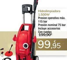 Oferta de Hidrolimpiadora 1500w por 99,95€