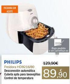 Oferta de Freidora HD9216/80 PHILIPS  por 89,9€