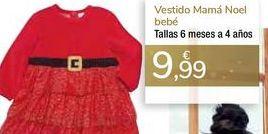 Oferta de Vestido Mamá Noel bebé  por 9,99€