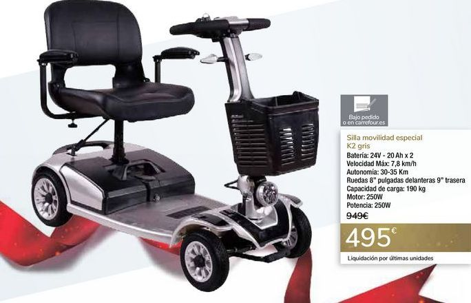 Oferta de Silla movilidad especial k2 Gris  por 495€