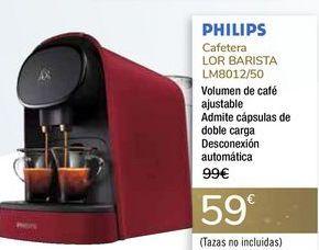 Oferta de Cafetera LOR BARISTA LM8012/50 PHILIPS por 59€