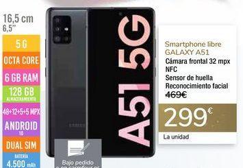 Oferta de Smartphone libre GALAXY A51 por 299€