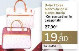 Oferta de Bolso Flores balncos - beigue o blanco - fuscia  por 19,9€