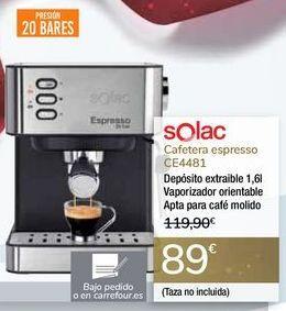 Oferta de Cafetera espressoi CE4481 Solac  por 89€