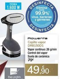 Oferta de Cepillo vapor DR8150D1 Rowenta por 49,9€