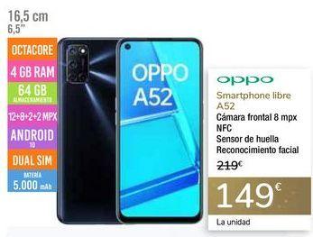 Oferta de Smartphone libre A52 OPPO por 149€
