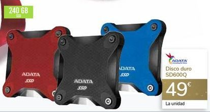 Oferta de Disco duro SD600Q ADATA por 49€