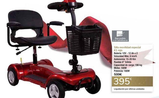 Oferta de Silla movilidad especial K1 Rojo por 395€