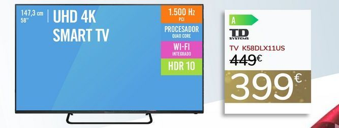 Oferta de TV K58DLX11US por 399€
