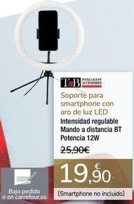 Oferta de Soporte para smartphone con aro de luz LED por 19,9€