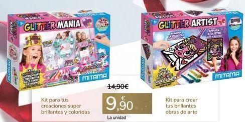 Oferta de Kit para tus creaciones super brillantes y coloridas o Kit para crear tus brillantes obras de arte  por 9,9€