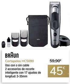 Oferta de Cortapelos HC5090 BRAUN por 45€