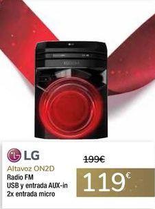 Oferta de Altavoz ON2D LG por 119€