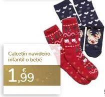 Oferta de Calcetín navideño infantil o bebé  por 1,99€