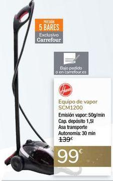 Oferta de Equipo de vapor SCM1200 Hoover por 99€
