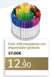 Oferta de Pack 108 rotuladores con dispensador giratorio  por 12,9€
