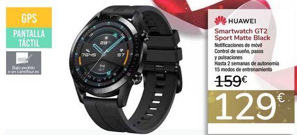 Oferta de Smartwatch GT2 Sport Matte Black por 129€