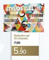 Oferta de Bolígrafos gel 50 Unidades  por 5,9€