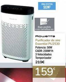 Oferta de Purificador de aire Essential PU2530 Rowenta  por 159€