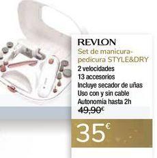 Oferta de Set de manicura-pedicura STYLE&DRY REVLON por 35€