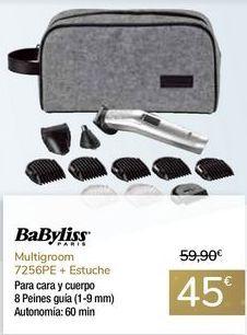Oferta de Multigroom 7256PE + Estuche BaByliss por 45€