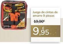 Oferta de Juego de cintas de amarre 9 piezas  por 9,95€