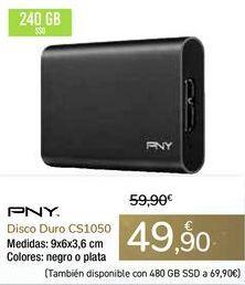 Oferta de Disco Duro CS1050 PNY por 49,9€