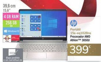 Oferta de Portátil 15s-eq1028ns HP por 399€