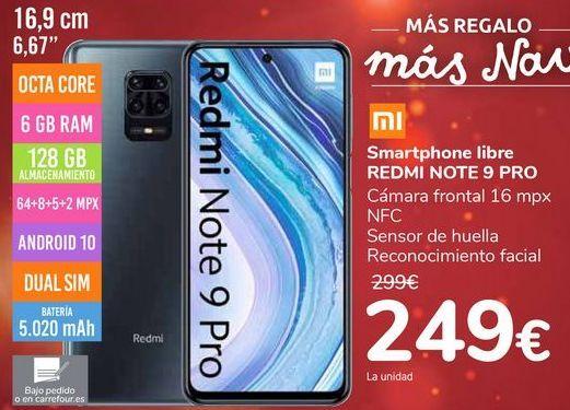 Oferta de Smartphone libre REDMI NOTE 9 PRO por 249€