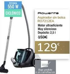 Oferta de Aspirador sin bolsa RO7212EA ROWENTA por 129€